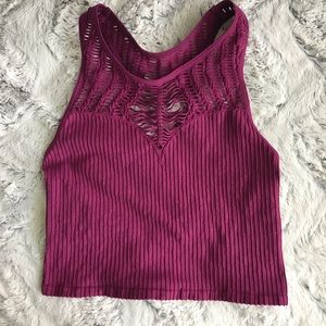 Free People High Neck Racerback Ribbed Bra XS/S